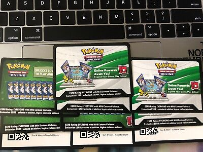 10x Pokemon TCG Online Sun & Moon Celestial Storm Code Card for TCGO Booster
