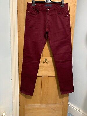 "Zara Man Men's Premium Red Chino Trousers W32-34"" L32"" *Vgc*"