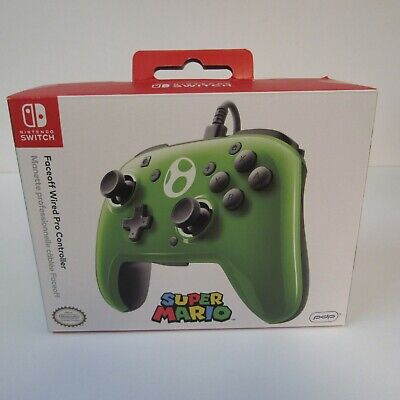 PDP Faceoff Wired Super Mario Yoshi Pro Controller For The Nintendo Switch NEW