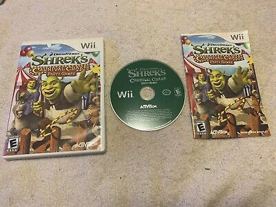 Shrek's Carnival Craze Party Games (Nintendo Wii, 2008) Tested Works