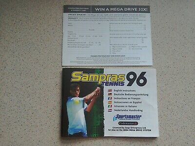 Sampras Tennis 96 Manual - Sega Mega Drive - NO GAME MANUAL ONLY (PAL)