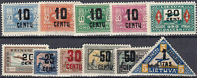 Lithuania - C121 - C31 - Complete Mh Airmail Set - Look!