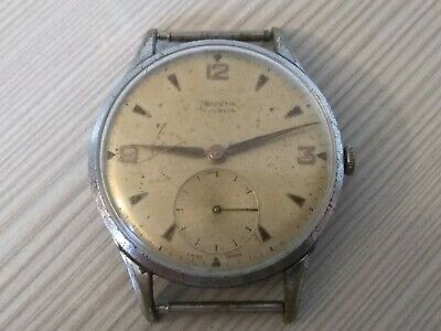 HELVETIA 1950s CAL. H64 VINTAGE WATCH OROLOGIO MANUALE 36MM DA RIPARARE NOT WORK