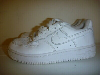 e06072a543 KIDS JUNIOR NIKE Air Force 1 Lo White Leather Sport Sneaker Trainers ...