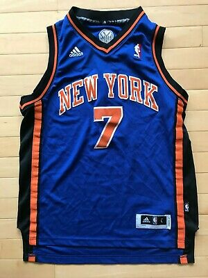 088e8893fb4a ADIDAS NBA JERSEY New York Knicks Carmelo Anthony Blue sz L -  14.99 ...