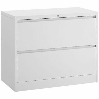 Matrix 2 Drawer Lateral Filing Cabinet White