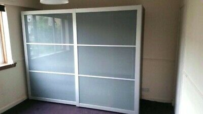 on sale 2f3e3 39e86 PAIR IKEA PAX Wardrobe Sliding Doors Frosted Glass H2x W1m. Delivery  available