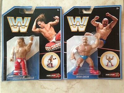 WWE Mattel Retro Shawn Michaels Series 7 / Iron Sheik Series 8 Wrestling Figure