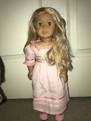 Custom American Girl Doll Caroline, Grace Eyes, Used Needs New Wig And TLC