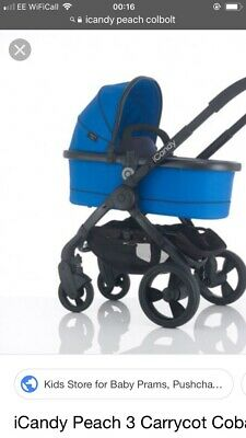 iCandy Peach Carrycot in Colbolt Truly Stunning