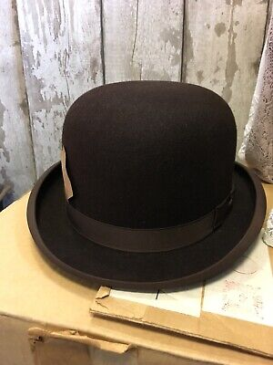 717ce97ae2846 Dunn   Co Hatters Bowler Hat UK with original Box size 7.5 vintage Gents