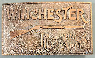 **NEW** Winchester Repeating Arms Brass Belt Buckle - New Haven Conn