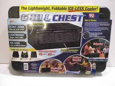 CHILL CHEST Lightweight Collapsible ice-LESS cooler that holds 60 cans