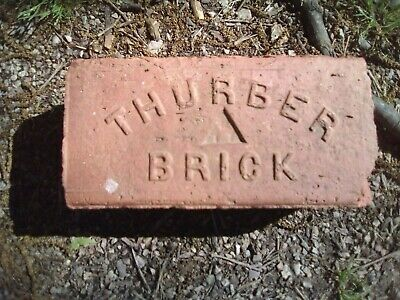 Brick Red Stamped - THURBER BRICK W/ Triangle