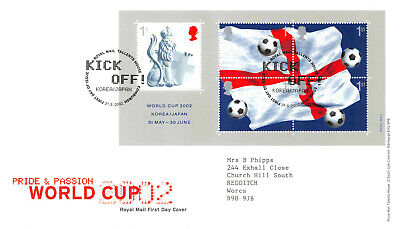 World Cup First Day Cover 2002 - Mini Sheet Stamps GB FDC