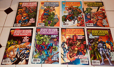 HEROES REBORN THE RETURN #1-4 NEAR MINT COMPLETE SET 1997
