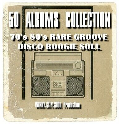 50 ALBUMS 70's 80's RARE GROOVE DISCO BOOGIE SOUL PRELUDE SALSOUL COLLECTION