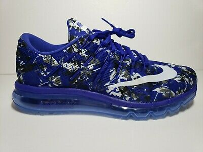 new style a8d90 d1f4a Rare Nike Air Max 2016 Print Men s Running Shoe 818135-401 Blue Size 10.5