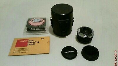 Olympus OM SYSTEM H ZUIKO AUTO W 24mm f2.8 lens From Japan w caps case extras