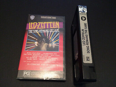 Led Zeppelin The Song Remains The Same Australian Vhs Video Pal Format