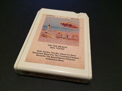 Neil Young On The Beach Australian 8 Track Tape Cartridge