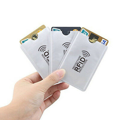 10x/Lot Credit Card Passport Cover RFID Protector Shielded Sleeve Card Case SY