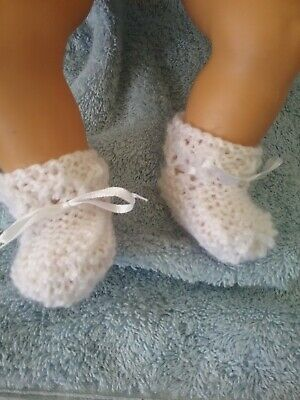 """Handmade Booties For  Baby Born Or 17"""" Doll"""