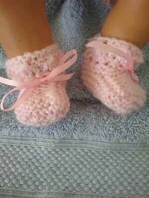 "Handmade Booties For   Baby Born Or 17"" Doll"