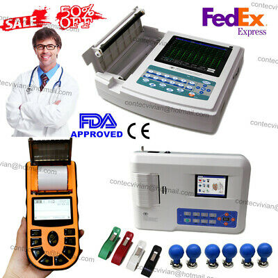 CE FDA Digital ECG/EKG Machine 12-lead interpretation Electrocardiography CONTEC
