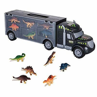 ASTOTSELL Dinosaurs Transport Car Carrier Truck Toy with 6 Pieces Mini Dinosaur