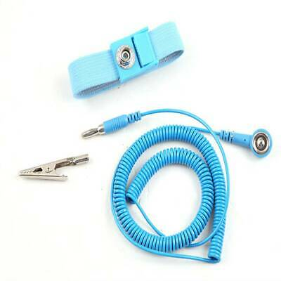 Adjustable Anti Static Bracelet ESD Cable Reusable Strap Hand W/Grounding Wire