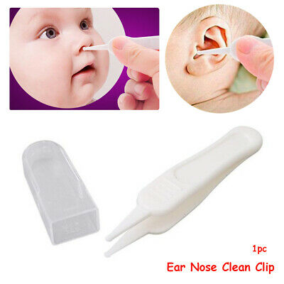 Hot Baby Cleaning Supplies White Forceps Dig Nose Clip Ear Nose  Tweezers