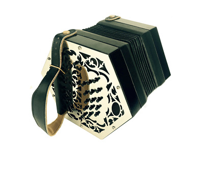 A LACHENAL 26 Button Anglo Concertina with Box - EUR 460,40