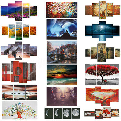 Large Picture Modern Abstract Canvas Oil Painting Print Home Room Wall Art  us