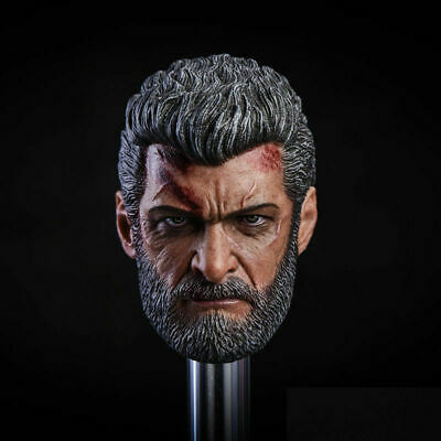 Worldbox 1//6 Uncle Wolverine Logan Male Head Sculpt Carving for 12/'/' Figure Doll
