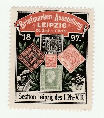 Germany- 1897 Stamp show at Leipzig- very clean but no gum