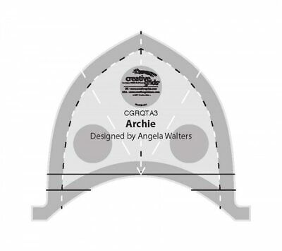 Angela Walters Machine Quilting Tool - Archie made by Creative Grids