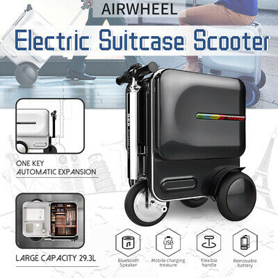 Airwheel S3 Travel Carry Luggage Electric Suitcase Scooter + bluetooth Speaker