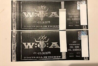 2 Tickets Wacken Open Air 2019 W:O:A xXx 3 Tage All In *AUSVERKAUFT*