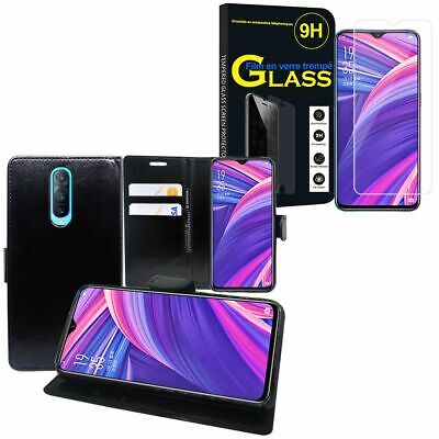 "Cover Case PU Leather Wallet Oppo RX17 pro/R17 pro 6.4 "" with Tempered Glass"