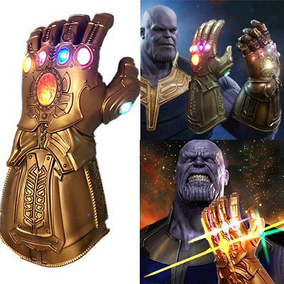 Avengers Infinity War Infinity Gauntlet LED Light Thanos Gloves Cosplay Prop KO