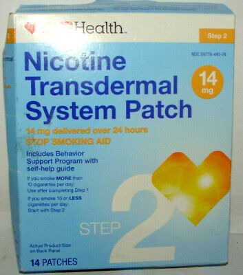 CVS Step 2 Nicotine (14 mg)  Transdermal System Patch  14 PATCHES   Exp FEB/20