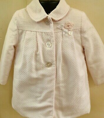 Tutto Piccolo Pink Girls Matching Outfit Set Pink Coat And Dress Aged 2 Years 💕