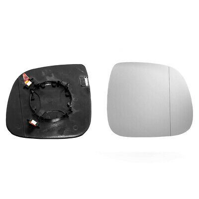 Passenger side Clip Convex wing mirror glass for VW Transporter 10-16