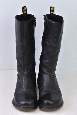 Women's Dr Martens Calf Size 7 Length Black Leather Boots