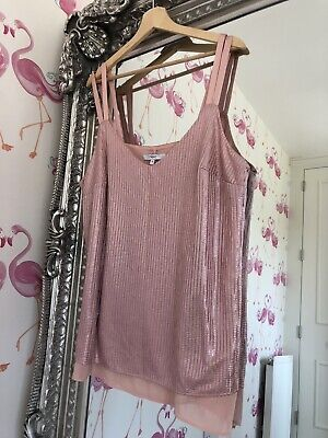 Next Plus Size Pink Mermaid Shimmer Party Glam Top 20