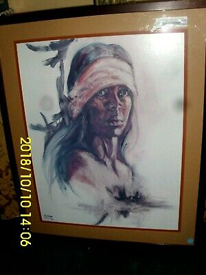 """Lithograph By Po Po And Ruby Lee """"Proud American"""" # 24  43092920 Picture Tub 01"""