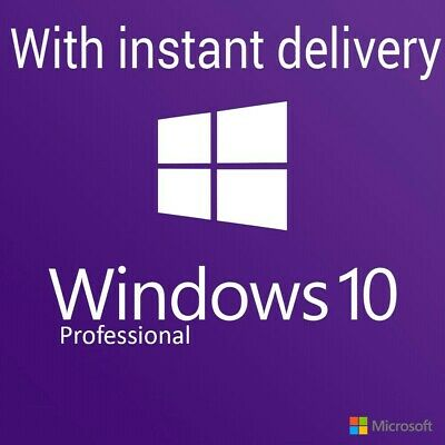 Windows 10 Professional Pro Key 32/64 Bit Activation License CODE instant