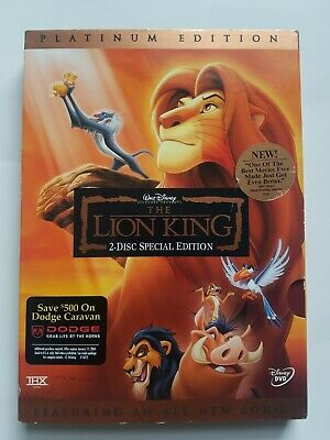The Lion King DVD 2003 2 Disc Set Platinum Edition Features an All New Song