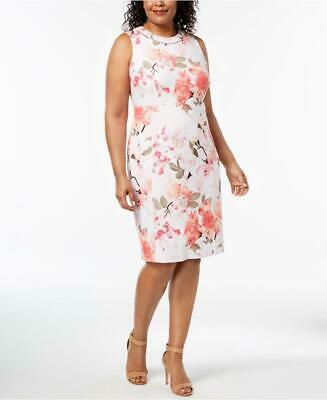 adbcd4c81f Calvin Klein Women s Plus Embellished Floral-Print Sheath Dress NWT Size  20W A7
